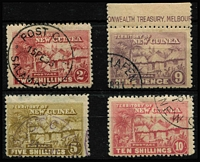 Lot 257 [3 of 3]:1925-27 Huts ½d to £1 set SG #125-36, variable centring, fine/very fine used, Cat £650. (13)