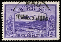 Lot 260:1935 Bulolo Air £2 bright violet SG #204, Wau datestamp, fine used. Cat £140.