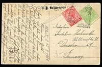 Lot 369 [2 of 31]:1893-1911 Selection of Cover & Cards including NSW 1873 cover from Sydney to England, 1898 use of 1½d New Year Greetings stationery card, 1901 uprated Registration Envelope to Thuringen, 1912 Pfahlert's Hotel (Sydney) to Netherlands, etc. (20 items)