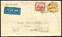 Lot 494 [2 of 6]:1935-41 Covers Selection with 1935 Silver Jubilee set on French Consulate registered cover tied Auckland FDI cancels, 1935 Pictorials ½d, 1d, 1½d and ½d, 2d & 6d and four illustrated FDCs, 1935 6d Pictorial plus 1/3d Arms on airmail cover to France, 1936 4d Mitre Peak on registered surface cover to USA, also 1940 Centennial issues mostly on souvenir covers or FDCs; condition variable, mostly fine. (16 items)