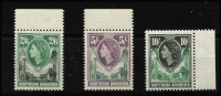Lot 1637 [2 of 4]:1953 & 1963 QEII Definitive Sets SG #61-74 & 75-88, fresh MUH, Cat £140. (28)