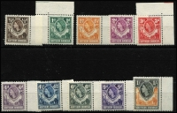 Lot 1637 [3 of 4]:1953 & 1963 QEII Definitive Sets SG #61-74 & 75-88, fresh MUH, Cat £140. (28)