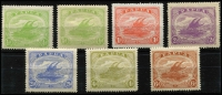 Lot 411 [2 of 2]:1911-15 Monocolours ½d to 1/- including ½d shade, Main Xref84-90, fine mint, . (8)