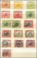 Lot 410 [2 of 4]:1906-30s Accumulation in Stockbook haphazard presentation with better items sighted including 1906 Large 'Papua' Wmk Vertical ½d & 4d (thinned patch, Cairns datestamp, Cat £160), 1907-10 Small 'PAPUA' Wmk Sideways P11 1d, 4d & 6d & P12½ 2d, 2½d & 1/- all mint, 1911-15 Monocolours set mint, 1916-31 Bicolours 1½d 'POSTACE' flaw etc, few perf OS' including 1930 2/6d mint (aged); condition variable, worth investigating.