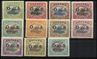 Lot 1358 [2 of 2]:1931-32 Pictorials Optd 'OS': ½d to 2/6d set SG #O55-66, fine mint, Cat £130. (12)