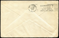 Lot 1150 [2 of 2]:1937 Coronation airmail cover from UK to Anglican Mission Dogura via Samarai with GB KGV 1/- & 3d tied by Windsor machine cancel, Brisbane slogan transit backstamp. Uncommon inwards mail.
