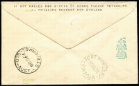 Lot 1505 [2 of 2]:1938 (Jul 23) inwards cover from UK with GB KGVI 1½d tied by Newport machine cancel, lightly struck Empire Air Mail Scheme cachet, Pointing Finger 'RETURNED/TO/WRITER/GPO/Port Moresby/UNCLAIMED' handstamp (Lee Type 108A, Rated E), Townsville & Port Moresby backstamps.