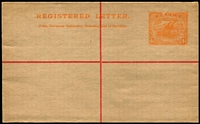 Lot 300:1917 4d Orange Size G on old NSW stock HG #C1, fine unused.