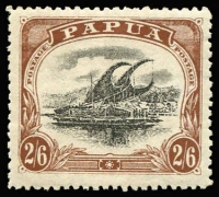 Lot 1348 [1 of 2]:1910-11 Large 'PAPUA' P12½ ½d (mild toning) to 2/6d (Type C) set SG #75-83, fine mint, Cat £125. (8)