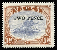Lot 1352:1931 Surcharges Mullett Printing 2d on 1½d variety 'POSTACE' at right [R1/1] SG #121a, fine mint, Cat £150.