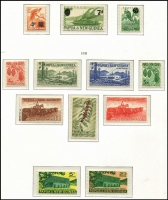Lot 427 [2 of 3]:1952-91 Collection in expensive KaBe album, approximately 90% complete, majority of stamps MUH, with some, mostly earlier issues, mounted mint. Album alone worth a hefty chunk of the estimate. (few 100s)