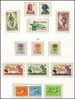 Lot 427 [3 of 3]:1952-91 Collection in expensive KaBe album, approximately 90% complete, majority of stamps MUH, with some, mostly earlier issues, mounted mint. Album alone worth a hefty chunk of the estimate. (few 100s)