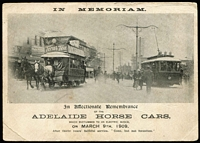 Lot 152 [3 of 6]:Australia - South Australia mostly early 1900s selection including 'Drying Raisins, Renmark', 'Adelaide Horse Cars' memorial card, Railway Station, Clare', also several Victor Harbor region RP types, Adelaide animated views including tram and horse & cart scenes. Excellent variety. (55)