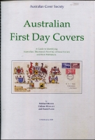 Lot 112:Australia - FDCs: 'Australian First Day Covers - A Guide to Identifying Australian Illustrated First Day Covers & Their Publishers by Moore, Wooley & Pauer, published by Australian Cover Society (2009), 210pp, spiral bound, as new. [An example sold for $190+ in our August 2017 sale]