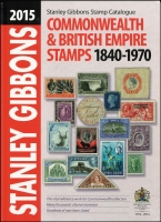 Lot 120:British Commonwealth: 'Stanley Gibbons 2015: Commonwealth & British Empire Stamps 1840-1970, 630 pages, bumps on spine, fine overall, weight 2kg.