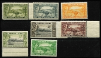 Lot 1671 [2 of 3]:1938-44 KGVI ½d to £1 set SG #188-200 including 1/- Waterlow imprint, many values MUH including 2/-, 5/- & £1, Cat £140. (16)