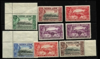Lot 1671 [3 of 3]:1938-44 KGVI ½d to £1 set SG #188-200 including 1/- Waterlow imprint, many values MUH including 2/-, 5/- & £1, Cat £140. (16)