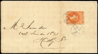Lot 532:1865 (Oct 29) Official Assignee's Office (Adelaide) Insolvency Notice sent locally with Rouletted 2d bright vermilion tied by GPO 'OC29/65' datestamp.