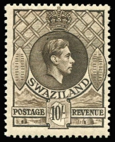 Lot 1692 [1 of 4]:1938-54 KGVI ½d to 10/- P13½x13 including 3d shade and ½d to 10/- P13½x14 including Gibbons listed shades for ½d, 3d, 6d, 2/6d & 5/- plus unlisted 2d shade, fine MLH/MVLH, some stamps MUH, Cat £500+. (31)