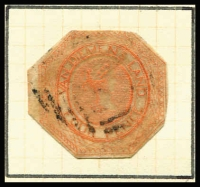 Lot 383 [1 of 4]:1853-1912 Array with poor 4d Courier cut-to-shape, imperf Chalons 2d x4 & 4d x2, perforated Chalons to 1/- including 4d slurred printing (reperforated) & 1/- with 'LATE/LETTER' handstamp, plus Sidefaces & Tablets; mixed condition. (58)