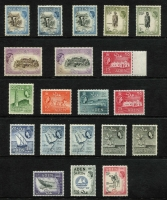 Lot 1316 [2 of 3]:1953-65 QEII Pictorials 1953-63 & 1964-65 (Change of Wmk) sets complete with all listed shades SG #48-72 & 77-86, fine mint with many values MVLH or MUH. (49)