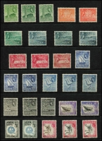 Lot 1316 [3 of 3]:1953-65 QEII Pictorials 1953-63 & 1964-65 (Change of Wmk) sets complete with all listed shades SG #48-72 & 77-86, fine mint with many values MVLH or MUH. (49)