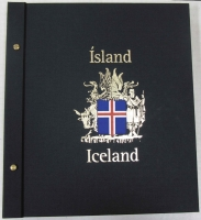 Lot 128:Davo album (with slipcase) for Iceland 1873-2006 issues, contains just three stamps.