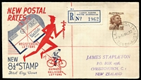 Lot 506 [2 of 9]:Bergen 1949-51 group of eight FDCs serviced by Arthur Bergen at Largs North (SA) post office on behalf on NZ dealer Jim Stapleton. (8)