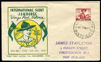 Lot 506 [1 of 9]:Bergen 1949-51 group of eight FDCs serviced by Arthur Bergen at Largs North (SA) post office on behalf on NZ dealer Jim Stapleton. (8)