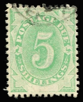 Lot 668 [1 of 2]:1902 Converted NSW Plates (Blank At Base) ½d to 5/- set between BW #D1-D11, fine used, Cat $380. (8)