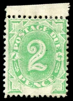 Lot 378 [1 of 2]:1902 Converted NSW Plates (Blank At Base) ½d to 6d (4d creased), 3d to 6d somewhat toned, mint with key 2d value marginal MVLH, Cat $250+. (6)