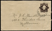 Lot 792:1918-19 1½d Black-Brown KGV Star Die 3 on brownish laid bâtonné paper BW #EP18, commercially used, small edge blemishes, Cat $150.