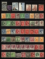 Lot 236 [2 of 5]:Miscellany in Ringbinder with pre-decimal & decimal perfins including perf 'G/NSW' KGVI 3½d on 3d block of 12 & Ash imprint block of 4 both unused, also some foreign perfins; non perfin material with decimal booklet panes, decimal multiples fine used, etc. (100s)