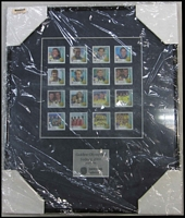 Lot 258:2000 Sydney Olympics Gold Medallists set of 16 45c gold medallists on Jones, Lang, Lasalle presentation plaque.