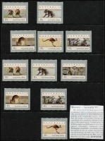 Lot 374 [2 of 2]:1994-2000 Counter Printed Kangaroos & Koalas two complete mint sets with 'AUSTRALIA 99' literal plus another set on World Stamp Expo cover; also two mint sets with 'AUSTRALIA99' joined literal which have apparently sold for $400+ per set in the past. (24 + cover)