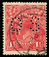 Lot 161:1½d Red Die I Perf 'OS' BW #90ba, fine used, Cat $175.