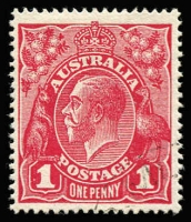 Lot 582:1d Red Smooth Paper with '[GP]O ME[LBOURNE/2]