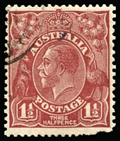 "Lot 732:1½d Red-Brown Die II CTO with weak diagonal 'SPECIMEN' overprint in violet running from top centre to lower-left margin BW #93x, defective lower-right corner, Cat $1,500. Drury Certificate (2017) describes this as a ""Unique stamp"", although Brusden White records two known examples. [This handstamp was applied to stamps sent to Bechuanaland Protectorate, which were later returned to London GPO]"