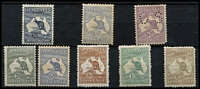 Lot 215 [2 of 2]:Mint Selection with First Wmk 2½d & 6d (toned), Second Wmk 6d & 9d Perf 'OS' (short corner perf), Third Wmk 2d, 6d Die II (toned), 6d brown Die IIB, 1/- Die IIB & 2/- (short perfs); condition variable. Cat $3,000+. (9)