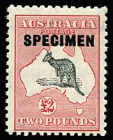Lot 525 [1 of 2]:10/- To £2 Overprinted 'SPECIMEN' Type 'D' BW #50xe,54x & 58x, key £2 value MUH, Cat $395.