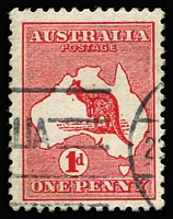 Lot 504:1d Red Die II Wmk sideways - crown pointing to left (as seen from back of stamp) BW #3ab, with variety Shading line over 'NNY' of 'PENNY' missing Cat $500.