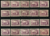 Lot 328 [3 of 3]:KGV Commemorative Accumulation in ringbinder predominantly used with 1½d Canberra x35 (few unused), 3d Airmail x38, Kingsford Smith x20 sets, Kingsford Smith 6d brown Airmail x19, Bridge 2d & 3d optd 'OS' sets x6, Vic Centenary 1/- x9, 9d Macarthur x6, 1/- ANZAC x7, SA Centenary x30 sets, NSW Anniv x20 sets, etc; condition variable. (Many 100s).