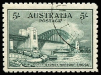 Lot 767:1932 5/- Harbour Bridge CTO BW #147w, Cat $200.