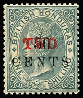 Lot 1324 [1 of 2]:1888-91 Surcharges with 1888 (Mar) 'TWO' on 50c on 1/- SG #35, 1888-91 1c on 1d to 50c on 1/- set #36-42 (20c on 6d crease), plus a few 1891 issues, Cat £145+. (11)