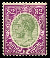 Lot 1326 [1 of 2]:1922-33 KGV Script CA 1c to $2 SG #126-37, including 5c shade, fine mint, Cat £150+. (10)