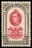Lot 1447 [1 of 12]:1938-47 Pictorials 1c to $5 set SG #150-61, some hinge remnants, generally fine mint, Cat £190. (12)