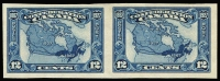 Lot 513 [1 of 5]:1927 60th Anniv of Confederation - Commemorative Issue 1c to 12c set SG #266-70, variety Imperforate pairs, see Gibbons footnote, fine MVLH/MUH, Cat £600. (5 pairs)