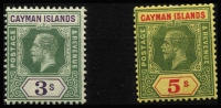 Lot 1476 [2 of 3]:1912-20 KGV Wmk MCA ¼d to 10/- set SG #40-52 including some low denomination die changes or shades, fine mint with key 10/- MVLH, Cat £250+. (18)