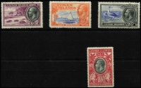 Lot 1478 [2 of 3]:1935 Pictorials ¼d to 10/- set SG #96-107, 5/- with Waterlow imprint tab, fine mint, Cat £200. (12)