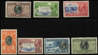 Lot 1478 [3 of 3]:1935 Pictorials ¼d to 10/- set SG #96-107, 5/- with Waterlow imprint tab, fine mint, Cat £200. (12)